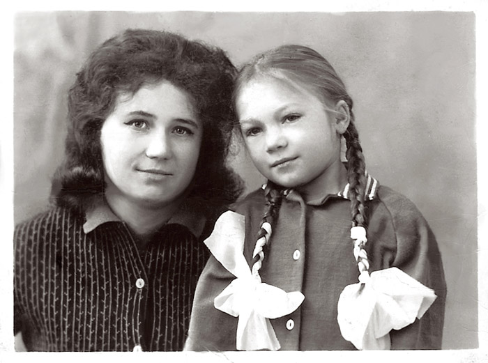 My mom with her godmother, early 60s