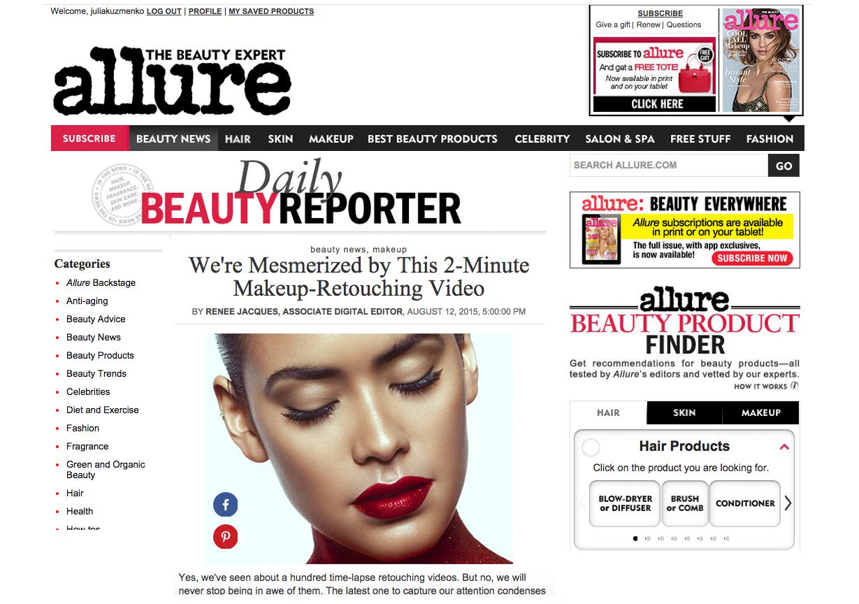 My Retouching Video On The Allure Magazine Blog