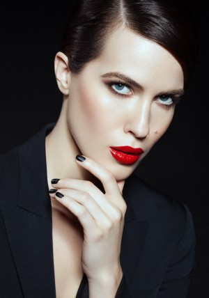 Bridget of Osbrink Models, Los Angeles, Makeup by Elizabeth Ulloa, Hair by Sylvia Stankowski