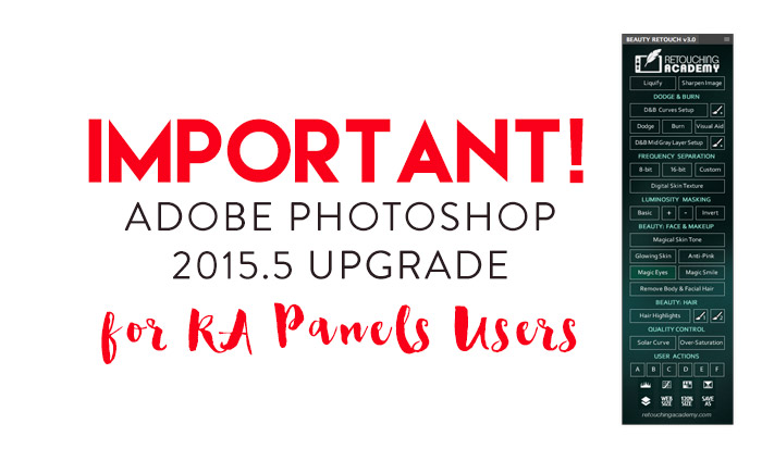 Important! Adobe Photoshop 2015.5 Upgrade (6/20/2016)